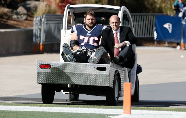 Sebastian Vollmer was carted off the field in the first half. (USATSI)