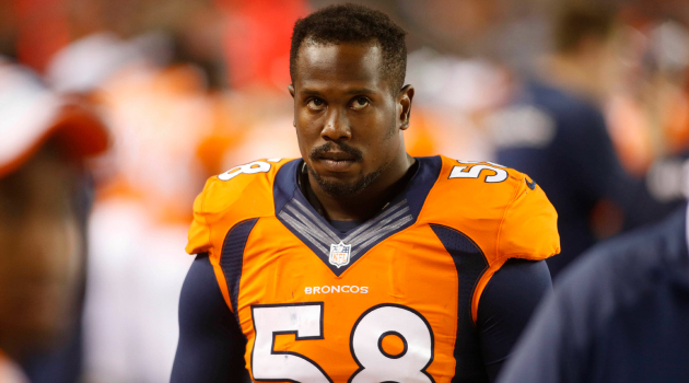 Von Miller can't have his wages garnishing.