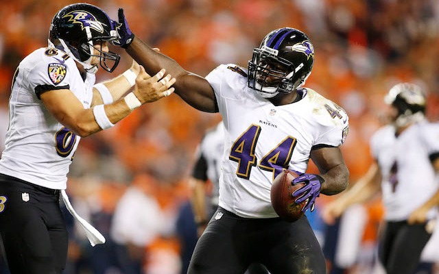 For the second time in nine months, Vonta Leach has been cut by the Ravens. (USATSI)