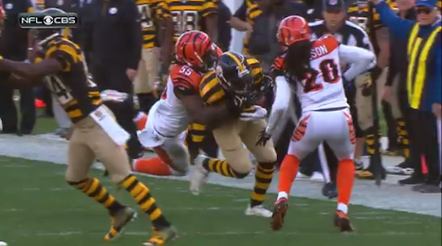 Several Steelers players are not happy with Vontaze Burfict. (CBS)