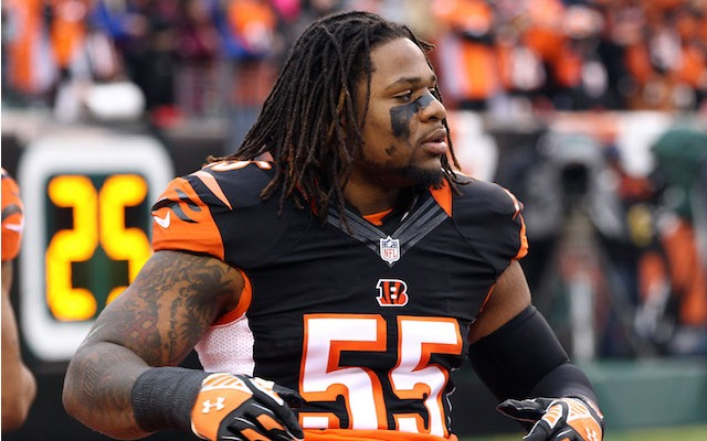 Vontaze Burfict has agreed to an extension with the Bengals. (USATSI)