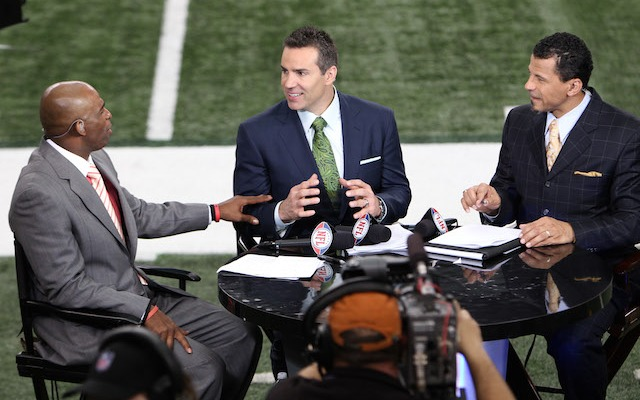 Will Kurt Warner [center] join Deion Sanders and Rod Woodson in the Hall of Fame? (USATSI)