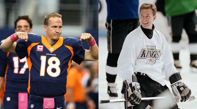 Wayne Gretzky understands what Peyton Manning's going through Sunday night.