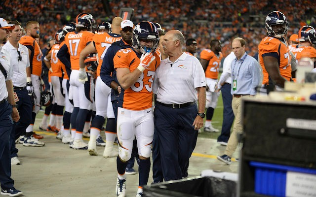 Wes Welker can't play until Week 6 at the earliest. (USATSI)