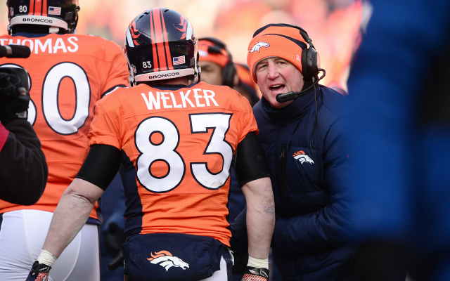 Wes Welker could reportedly miss the rest of the season.