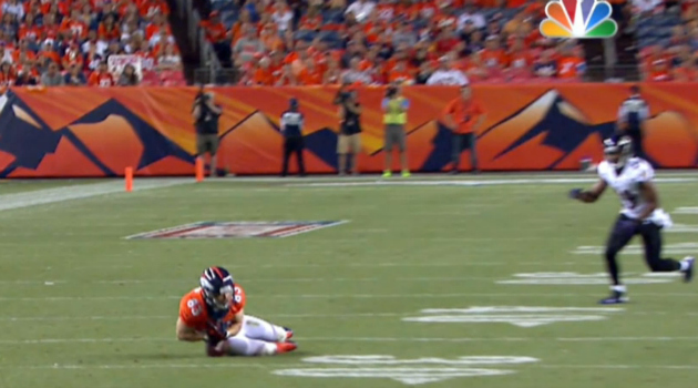 Wes Welker clearly dropped this pass on Thursday.