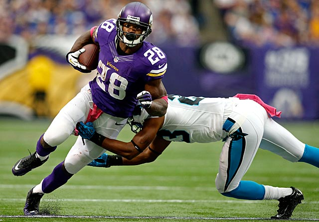 Adrian Peterson is still expected to play Monday. (USATSI)