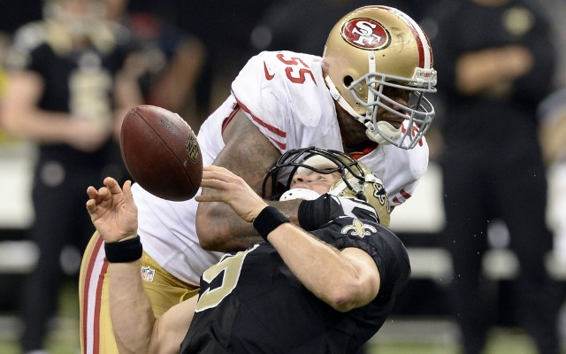 Ahmad Brooks doesn't think he should have been penalized for this. (USATSI)
