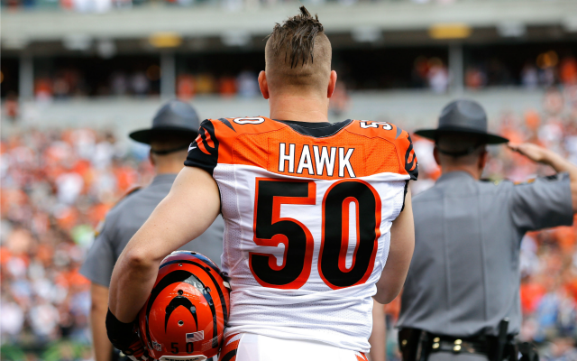 more photos 30771 d45f0 Bengals release A.J. Hawk: Here are the veteran linebacker's ...