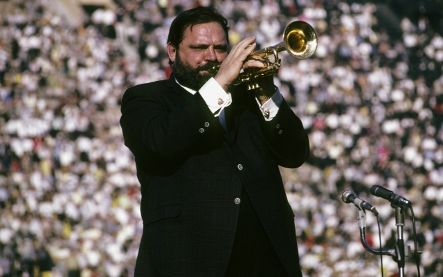 Al Hirt and his trumpet in 1967. (Getty Images)