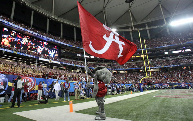 Alabama's flag may not be flying at major games if it had been penalized harshly by the NCAA. (USATSI)