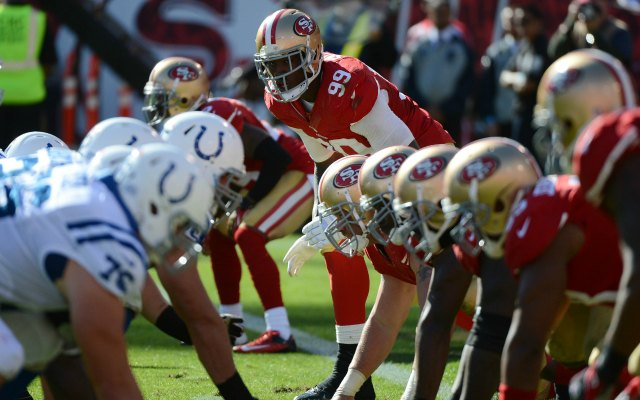 It sounds like we won't be seeing Aldon Smith any time soon. (USATSI)
