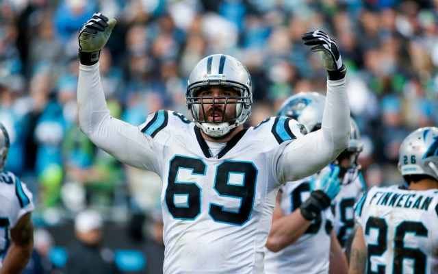 The Panthers won't have Jared Allen on Sunday. (USATSI)