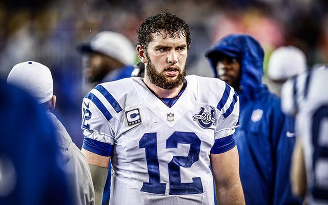 Andrew Luck is still in some pain. (USATSI)