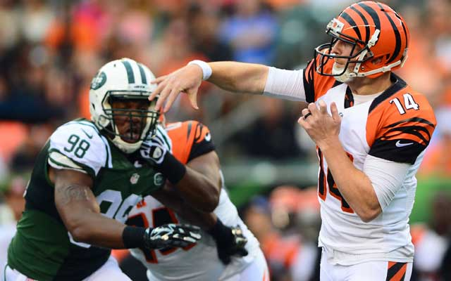 Andy Dalton was 8/8 for 144 yards and a score vs. the Jets Saturday.