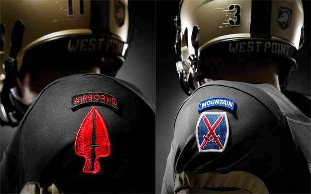Patches found on the sleeves of Army West Point football uniforms ...