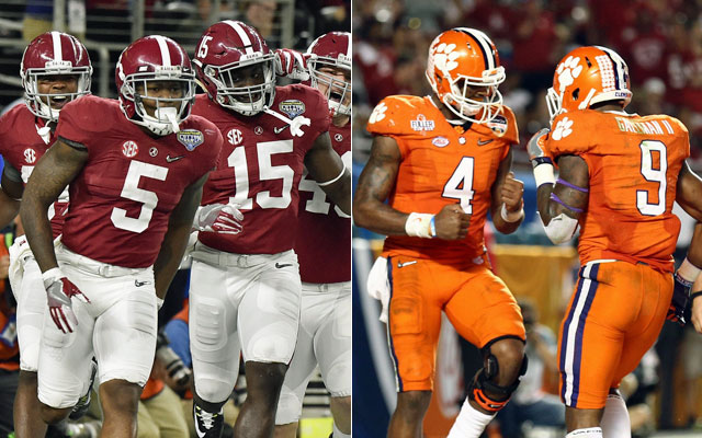 Alabama is favored to beat Clemson for the national title. (USATSI)