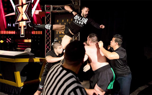 Finn Balor (left) has become a fan favorite in NXT. (WWE)