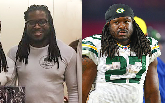 Eddie Lacy looks much thinner after just three months. (USATSI)