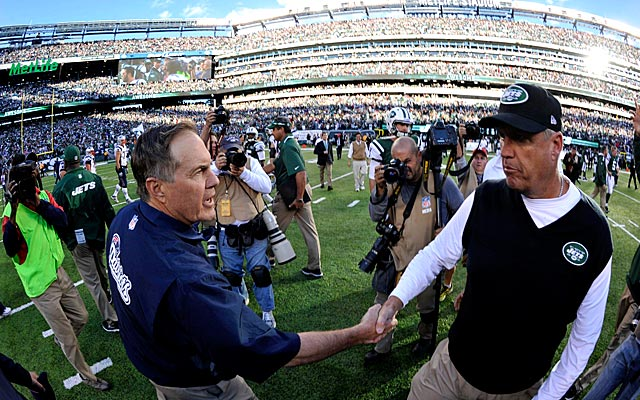 Bill Belichick and Rex Ryan like to make jokes. (USATSI)