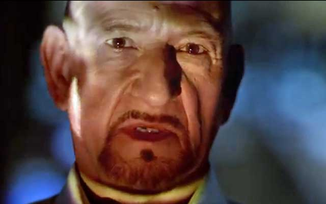 Ben Kingsley is rocking some evil for Jaguar.