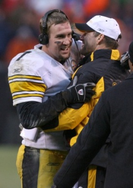 B. Roethlisberger has impressed his former coach, Bill Cowher, this season (US Presswire).
