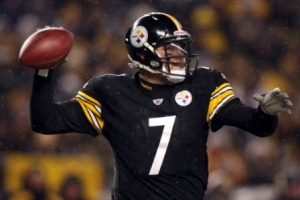B. Roethlisberger will take note of D. Revis (US Presswire).