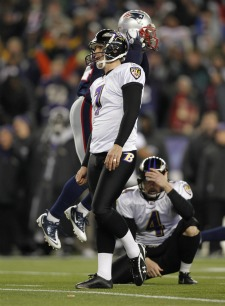 B. Cundiff missed a 32-yard FG to tie New England.