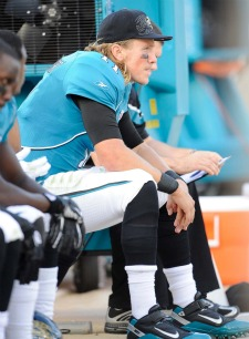 B. Gabbert was benched by Jack Del Rio today (US Presswire).