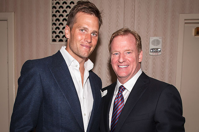 Tom Brady and Roger Goodell probably won't be smiling for photo ops anytime soon. (USATSI)