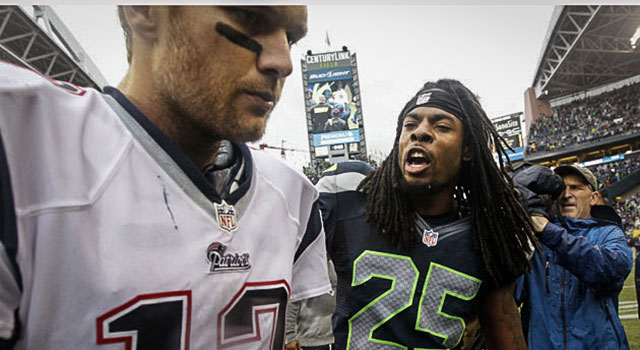 Tom Brady didn't even know Richard Sherman was trash-talking. (AP)