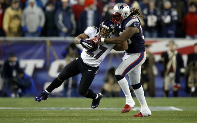 The Patriots will lose one of the NFL's best run-stoppers in Brandon Spikes. (USATSI)