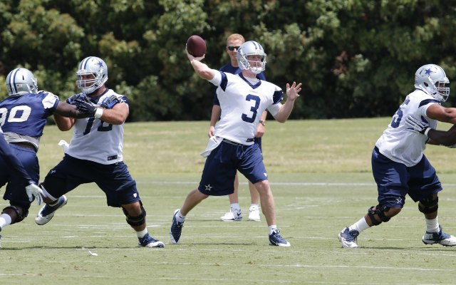 Brandon Weeden took first-team reps at Cowboys minicamp. (USATSI)