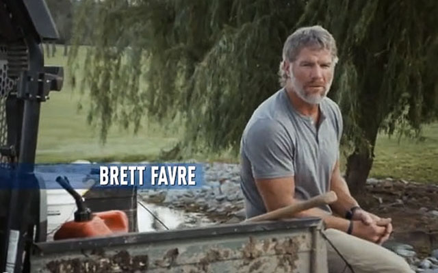 Brett Favre wants your vote. (YouTube)