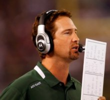 Brian Schottenheimer had his play-calling questioned after New York's game Sunday (US Presswire).