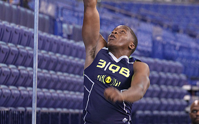 Top-rated QB prospect Teddy Bridgewater records a 30.0 vertical jump. (USATSI)