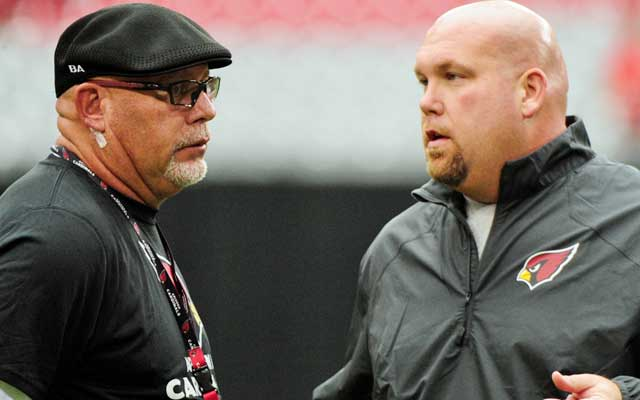 Bruce Arians (left) has his team thinking championship.