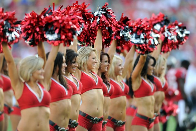 A Tampa Bay cheerleader is suing the Buccaneers. (USATSI)