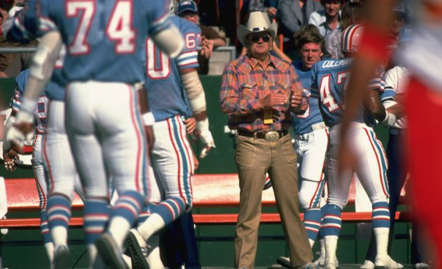 As a new head coach in Houston, Bum Phillips had to make sure he had the power. (Getty Images)