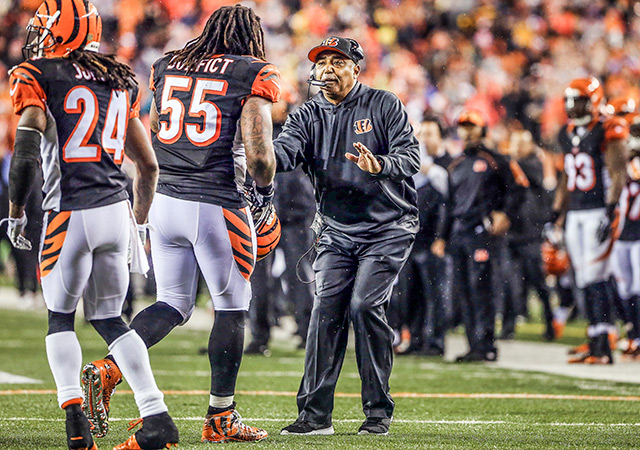 Marvin Lewis pleaded with Vontaze Burfict to keep his cool. (USATSI)