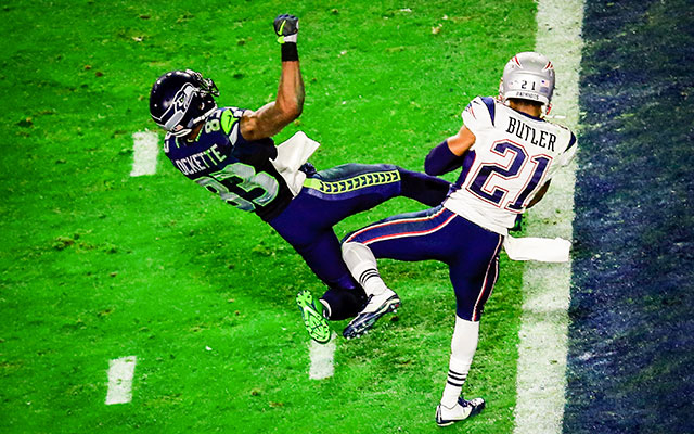 This wasn't the first time Malcolm Butler had seen this play. (Getty Images)