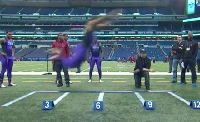 A UConn player's NFL Combine jump would've set a new world ...