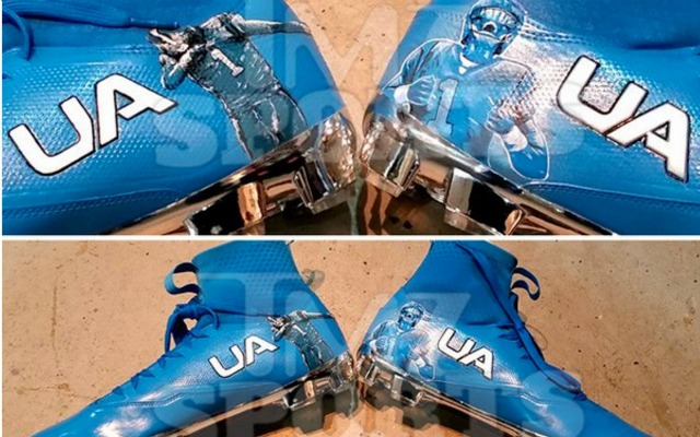 san francisco 664fa 5b735 LOOK: Cam Newton's custom 'dabbing' cleats for Thanksgiving
