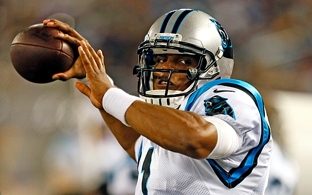 Cam Newton takes offense at the notion that Carolina's WRs are among the worst in the league. (USATSI)