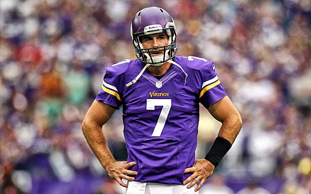 Christian Ponder is currently third on the depth chart in Minnesota. (USATSI)