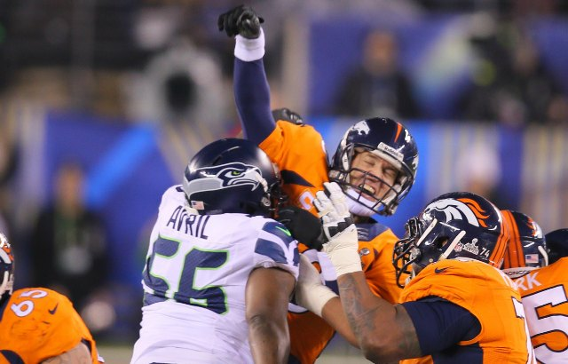 Cliff Avril got up close to Peyton Manning on Sunday. (USATSI)