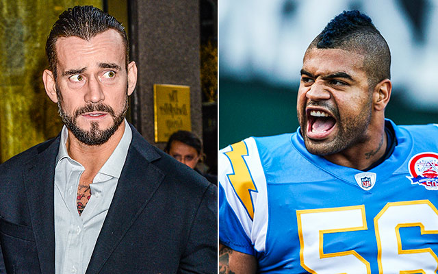 Shawne Merriman Highlights cm Punk And Shawne Merriman