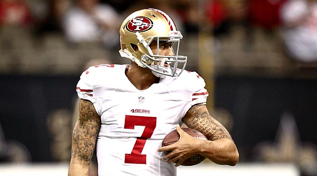 At least one person believes in Colin Kaepernick. (USATSI)