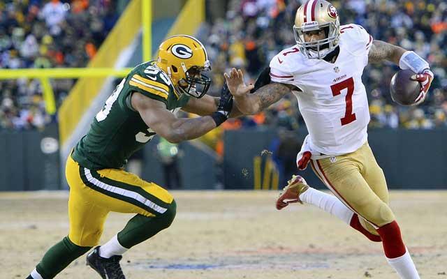 Colin Kaepernick was 2-0 vs. the Packers last season. (USATSI)