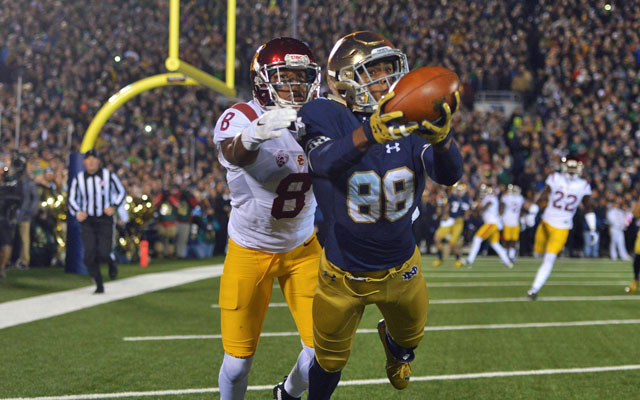 Corey Robinson is always reaching -- for footballs and opportunities. (USATSI)